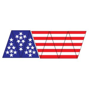 Helmet Flag Triangles – 1 Set