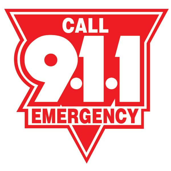 Call 911 Emergency C911esr10 Firefly Signs